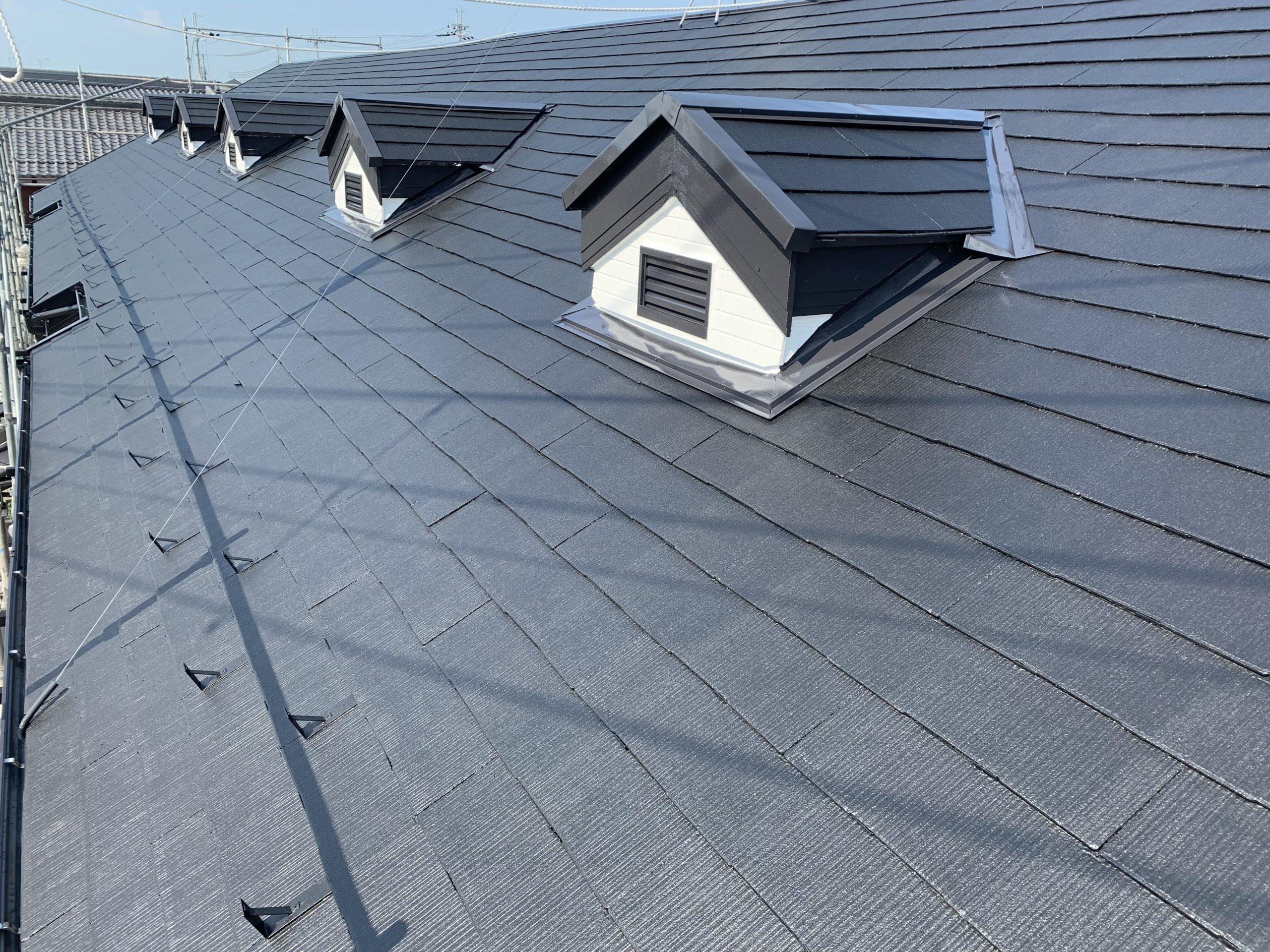 カラーベスト屋根 遮熱シリコン塗装